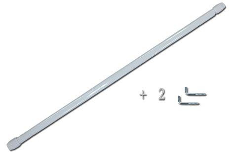 tringle rideau sans vis tringle 192 vitrage plate blanche extensible 2 gonds 192 vis ebay