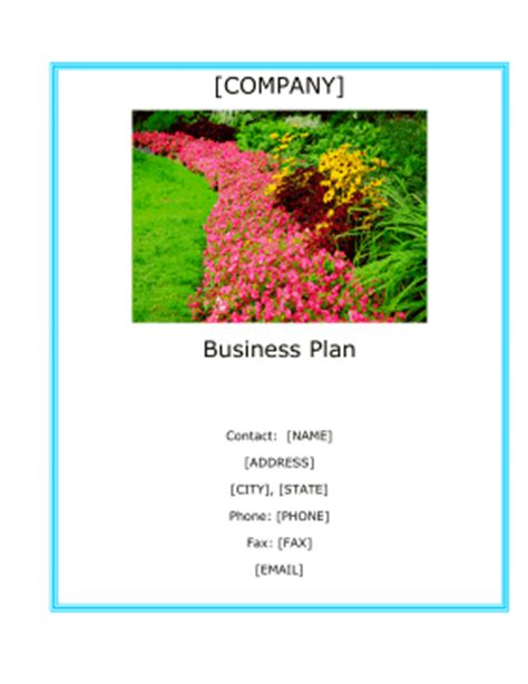 landscaping company business plan