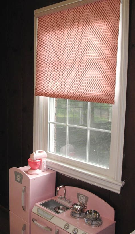 diy fabric roller shade  decorated cookie