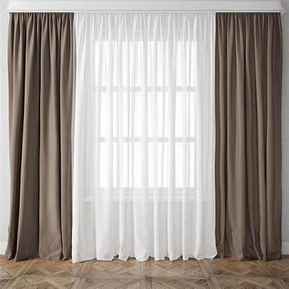 Curtain 3d Models Max Interior Living Cgtrader