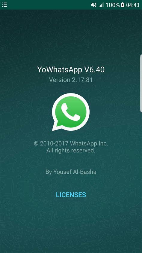 yo whatsapp 6 40 apk