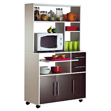 meuble cuisine micro onde meuble micro ondes 3 portes 2 tiroirs cumin blanc wengé