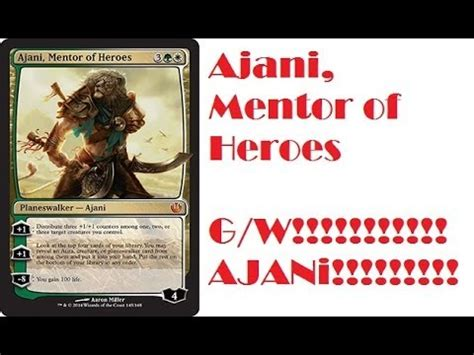 Ajani Mentor Of Heroes Commander Deck by Ajani Mentor Of Heroes Journey Into Nyx Spoilers Gw