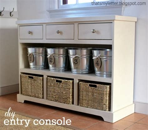 Entryway Consoles - that s my letter diy entry console