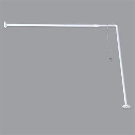 barre d angle pour baignoire extensible barre rideau de eminza