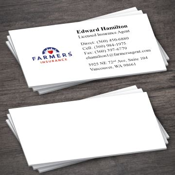 Ryancer print january 18, 2014 | 0. Farmers Insurance Business Card Template 2-5 - Printing Expressly For You