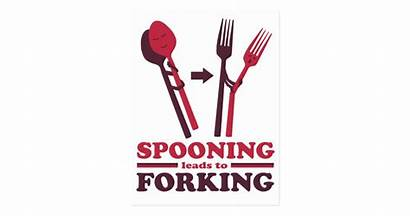 Spooning Forking Leads Postcard Romance Zazzle