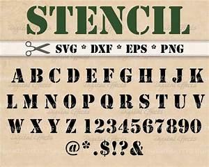 stencil letters svg dxf eps png stencil font monogram svg With cricut letter stencils