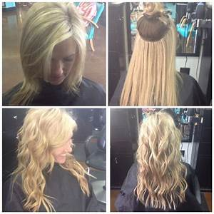 Natural Beaded Row Hair Extensions Before After