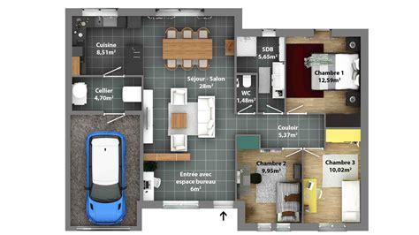 plan maison moderne 5 chambres plan maison rdc 3 chambres plan de maison 3 chambres avec