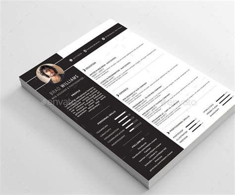 Template Pour Cv by 24 Templates De Cv Sur Photoshop
