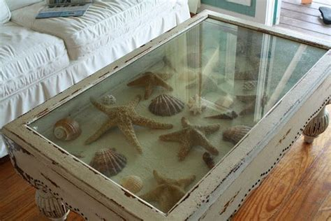 shadow box coffee table picture collages and beaches on