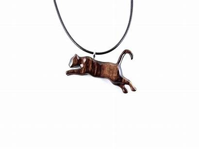 Lioness Wooden Animal Totem Necklace Spirit Pendant
