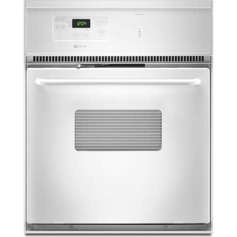 maytag cweace  single electric wall oven   cu ft  cleaning oven precision
