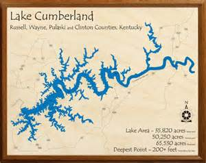 Lake Cumberland Kentucky Map