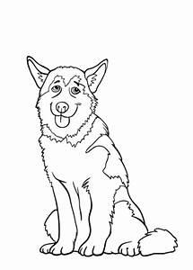 Honden En Poezen Kleurplaten Printen.Kleurplaat Hondje