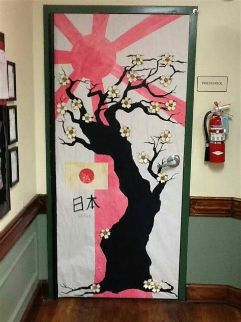 japan theme  won   door bulletin boards