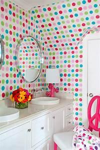 salle de bain enfant en 52 idees marrantes With salle de bain design avec décoration d anniversaire minnie