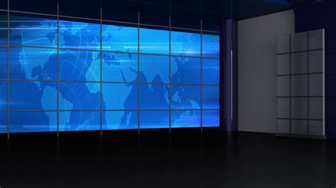 tv green screen template white news tv studio set 246 virtual green screen background