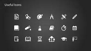 Flat Design Brain Activity Icons Of Powerpoint