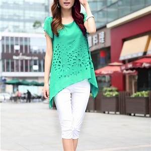 Stylish Summer Short Sleeve Top Shirts For Trendy Women ...