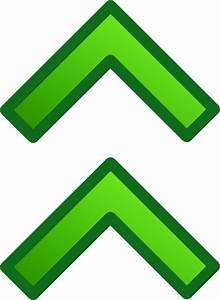 Green Up Double Arrows Set Clip Art at Clker.com - vector ...