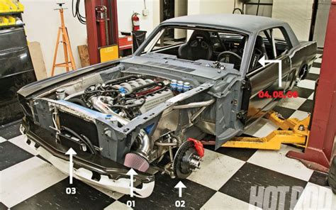 hod rods coyote engine swap guide part  mustang