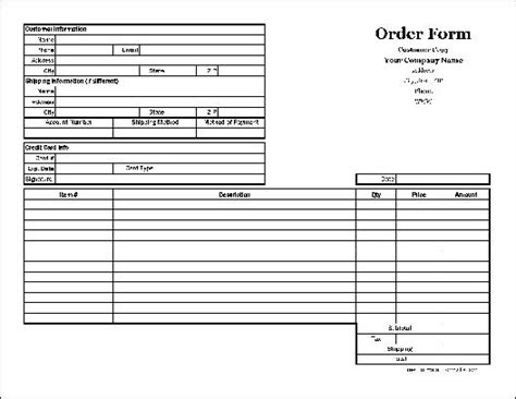 18366 duplicate order form free easy copy detailed order form with duplicate wide
