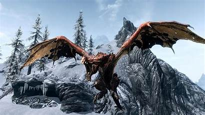 Dragon Skyrim 1080p Wallpapers Desktop Dragons Elder