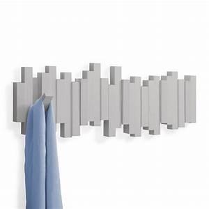 Porte Manteau Mural Design : umbra sticks 318211 918 portemanteau mural gris ~ Teatrodelosmanantiales.com Idées de Décoration