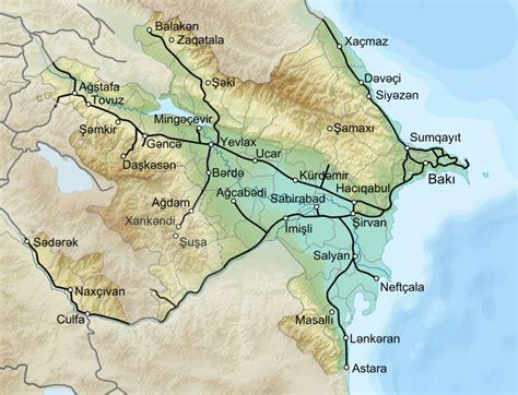 Ģeogrāfiskā karte - Azerbaidžāna - 2,800 x 2,144 Pikselis ...