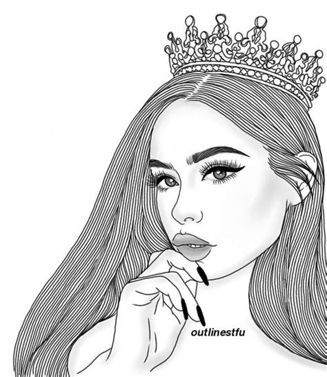 outline queen  tumblr image drawings
