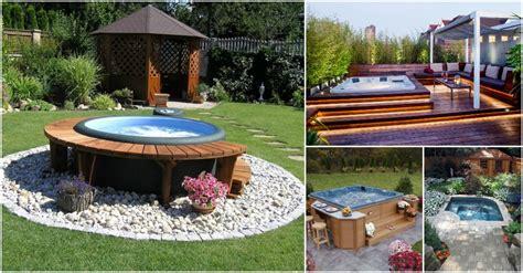 amazing outdoor jacuzzi ideas   leave