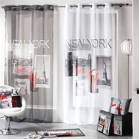 rideau york chambre voilage 140x260cm quot i york quot gris