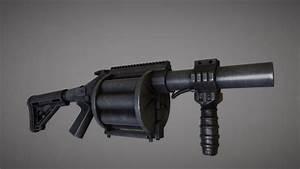 m32 grenade launcher 3d model