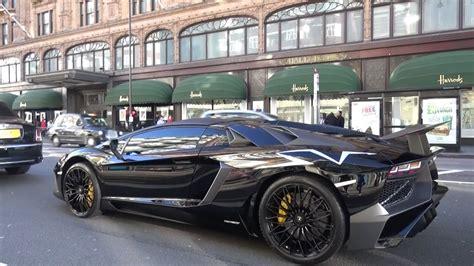 lamborghini aventador sv roadster autotrader first lamborghini aventador sv roadster in london youtube