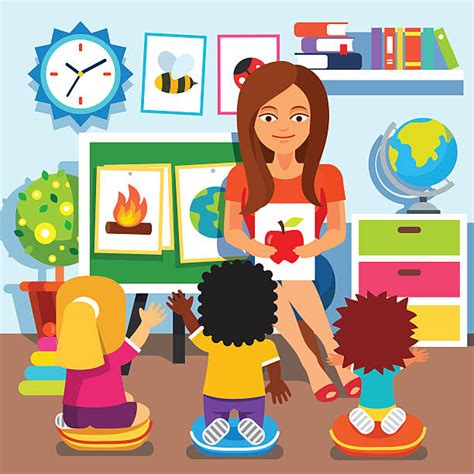 preschool classroom illustrations royalty