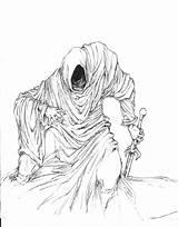 Wraith Ring Lord Drawing Hobbit Rings Deviantart Pencil Ink Ringwraith Getdrawings Fantasy Digital Deviant sketch template