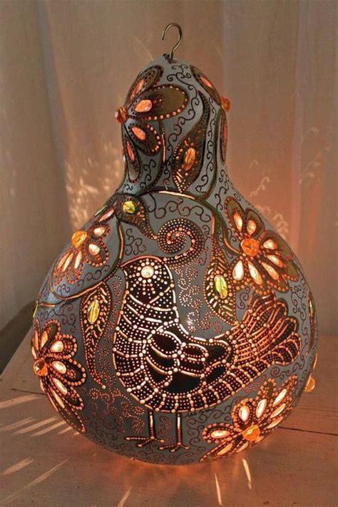 lampara de calabaza decorative gourds gourd lamp gourds