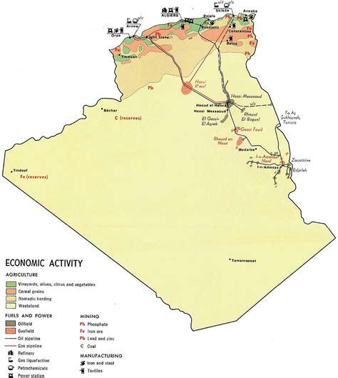 Carte Algerie Villes by Carte Alg 233 Rie 233 Conomique Carte Alg 233 Rie