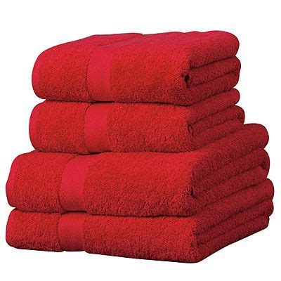 Bathroom Towel Colors by Color Rojo Towels Color Rojo