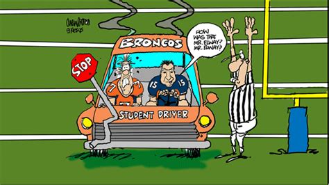 manning broncos cartoon