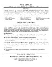 Federal Enforcement Resume Objective by Free Enforcement Resume Exle Writing Resume