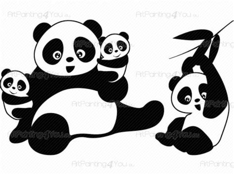 stikers chambre bébé muurstickers babykamer kinderkamer pandabeer 1733nl