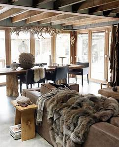 creer une deco montagne chic With decoration chalet de montagne