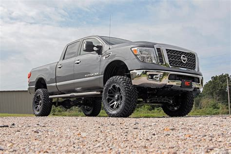 nissan titan xd lifted rou 877 20 rough country 6in suspension lift kit fits