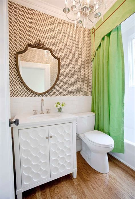 Shower Curtain Valance   Eclectic   bathroom   Peppermint