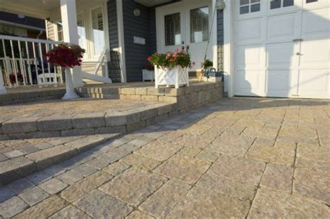 unilock stonehenge driveway and front steps by unilock with stonehenge and