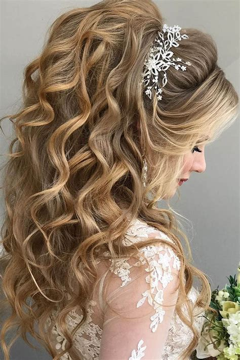20 Half Up Half Down Wedding Hairstyles Roses And Rings