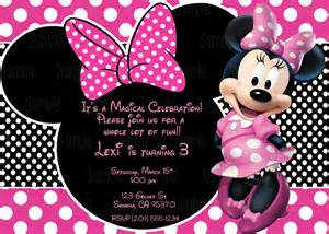 Printable Minnie Mouse Invitation plus FREE blank matching printable thank you card